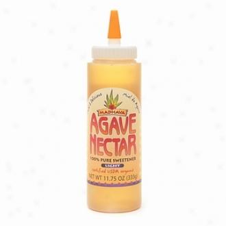 Madhava Agave Nectar 100% Pure Organiic Sweetener, Light