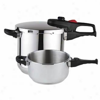 Magefesa Practika Plus Stainlsss Steel Super Fast Preswure Cooker Set 4&6 Qt.