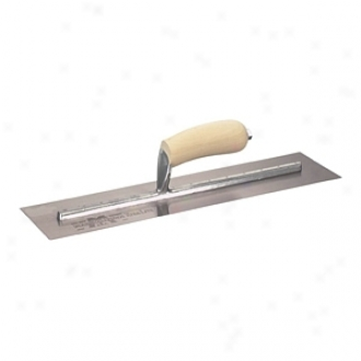 Marshalltown 4in X 14in Finishing Trowel With Curved Wood Handle Mxs64