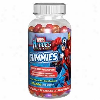 Marvel Heroes Gummies, Children's Vitamin And Mineral Supplement