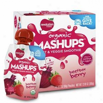 Mash Ups Organic Squeezable Fruit & Veggie, Beetbox Berry