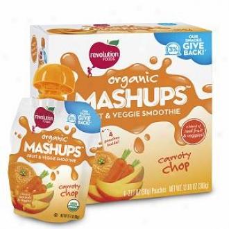 Mash Ups Organic Squeezable Fruit & Veggie, Carroty Chop