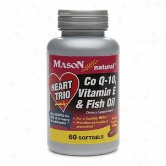Mason Natural Heart Trio, Co Q-10, Vitamin E & Fish Oil, Softgels