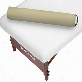 Master Massage Spamaster Essentials Rpund Bolster 6 Inch, Cream