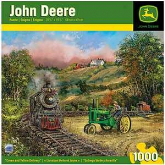 Masterpieces Puzzles John Deere Green And Yellow Delivery 1000 Pcs Ages 13+