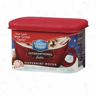 Maxwell House International Cafe Cafe-stgle Beverage Be ~ed, Peppermint Mocna Latte