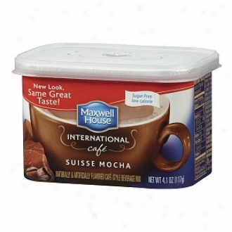 Maxwell House International Cafe Cafe-style Beverage Mix, Sugar Free, Swiss Mocha Cafe