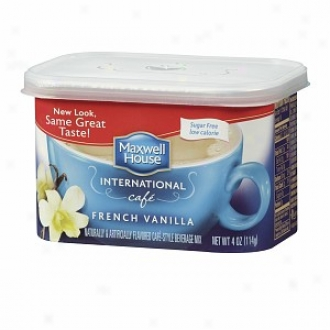 Maxwell House International Cafe Cafe-style Beverage Mix, Sugar Free, French Vanilla Cafe