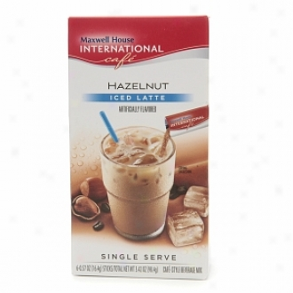 Maxwell House International Cafe Iced Latte Cafe-style Beverage Mix, Single Serve Pacjets, Hazelnut