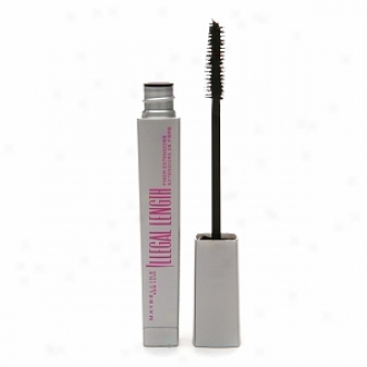 Maybelline Illegal Lengths Fiber Extensions Washable Mascara, Brownish Black