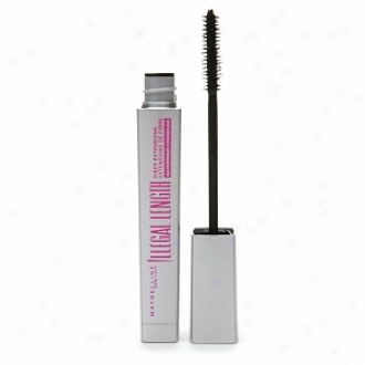 Maybelline Unlawful Lengths Fiber Extensions Waterproof Mascara, Blackest Black