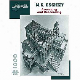 Mc Escher Asending And Descending Puzzle 1000 Pcs  Ages 12 And Up
