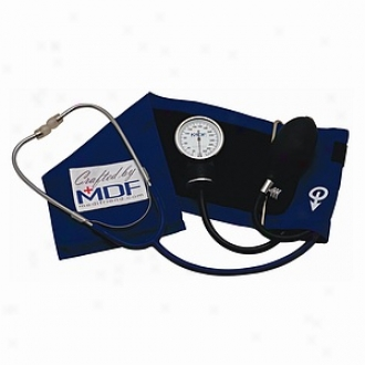 Mcf Instruments Profeasional Aneroid Sphygmomsnometer W Atatched Stethoscope S. Fox Blue