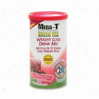 Mega-t Green Tea Weight Loss Drink Mix-natural Berry Flavor (bi-lingual)