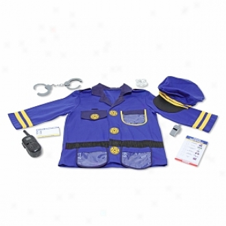 Melissa And Doug Police Officer Deluxe Role Play Set Ages 3 And Up