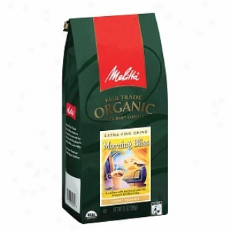 Melitta Fair Trade Organic Gourmet Ground Coffee, Morning Bliss Roast