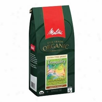 Melitta Fair Trade Organic Gourmet Ground Coffee, Tranquility Roast, Decaffeinated