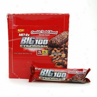 Met-rx Big 100 Colossal Meal Replacement Bars, Chocolate Toasted Almond