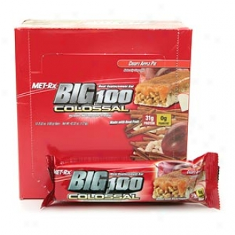 Met-rx Big 100 Colossal Meal Replacement Bars, Crispy Apple Pie