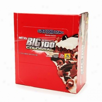 Met-rx Big 100 Colossa lMeal Replacement Bars, Super Cookie Crunch