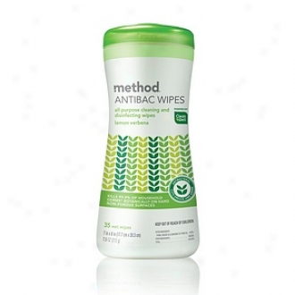 Method Antibac Wipes, All Purpose Cleaning And Disinfecting Wipes, Lemon Verbena