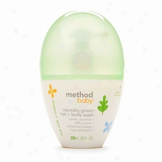Method Baby Squeaky Green Hair + Body Wash, Rice Milk + Mallow