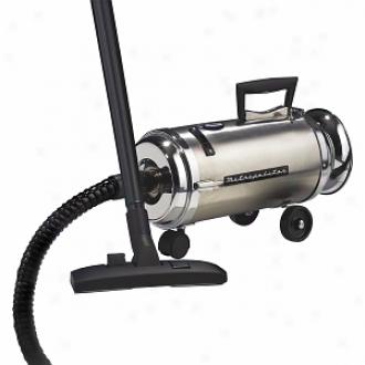 Metropolitan Vacuum Cleaners Mini Canister 4.0 Phhp Twin Fan Motor, 2 Speed Model Ov-4bcsf, Stainless Steel