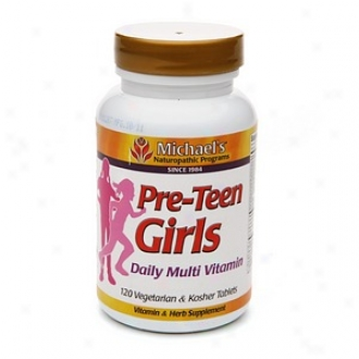 Michael's Naturopathic Programs Prre-teen Girls Daily Multi Vitamin, Veggie Tabs