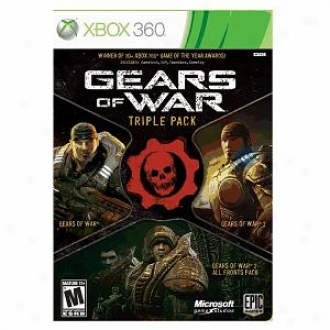 Microsoft Xbox 360 Gears Of War Triple Pack By Microsoft