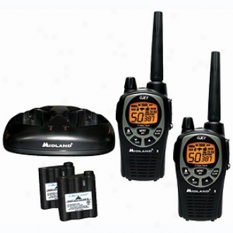 Midland 50 -channel Gmrs Radio Pair Pack With Batteries & Drop-in Charger