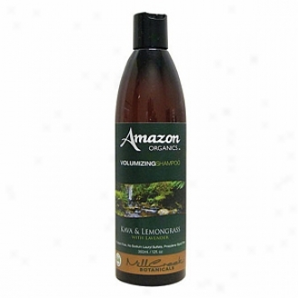Mill Creek Botanicals Amazon Organics Volumizing Shampoo, Kava & Lemongrass