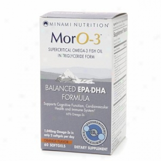 Minami Nutrition Moro-3 Omega-3 Fish Oil, Epa-dha, Softgel, Ornge
