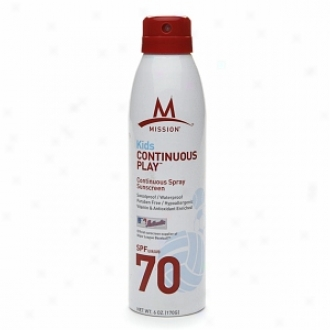 Mission Athletecare Kids Continuous Play, Continuous Spray Sunscreen Spf70