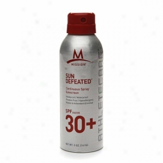 Mission Athletecare Sun Defeated Continuous Spray Subscreen Spf30+