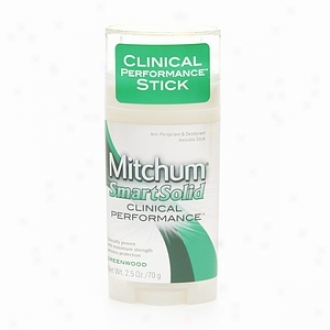 Mitchum Smartsolid Clinical Performance, Antiperspirant & Deodorant Imperceptible Stick, Greenwood