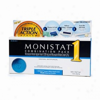 Monistat 1 Triple Action System, Combination Pack, 1-day Treatment