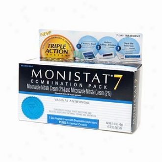 Monistat 7 Triple Action System, Combination Pack, 7-day Treatment