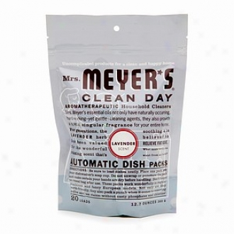Mrs. Meyer's Clean Day Automatic Dishwashing Packs 20 Loads, Lavender