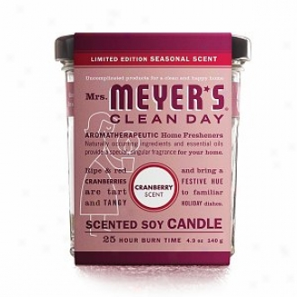 Mrs. Meyer#&039;s Clean Day Holiday Scented Soy Camdle, Cranberry