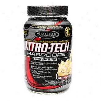 Muscletech Nitro-tech Hardcore Pro Series Whey Protein,_Banana Cream
