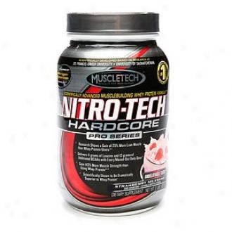 Muscletech Nitro-tech Hardcore Pro Series Whey Protein, Strawhrry Milkshake