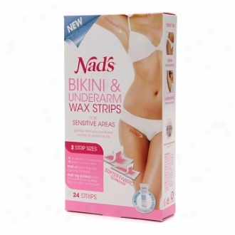 Nad's Bikini & Underarm Strips With Moisture+ Body Balm