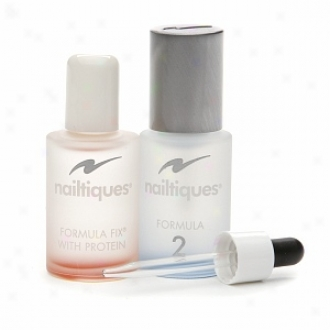 Nailtiques Formula 2 Treatment + Formula Fix With Protein Kit