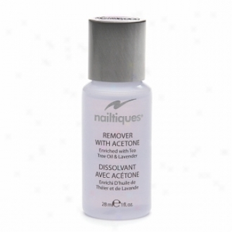 Nailtiques Remover With Acetone Enriched Wtih Tea Tree Oil & Lavender