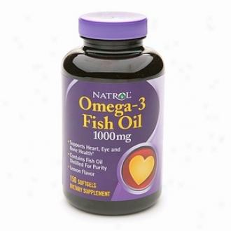 Natrol Omega-3 Fish Oil, 1000mg, Softgels