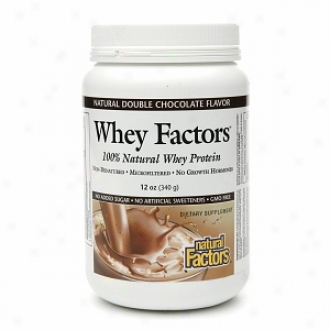 Natural Factors Wheh Factors, 100% Natural Whey Protein, Natural Double Chocolate
