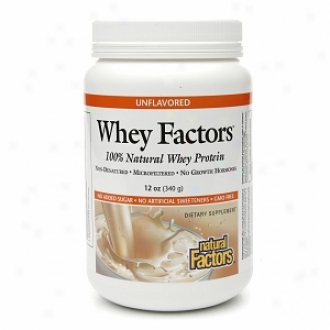 Natural Factors Whey Factors, 100% Natural Whey Protein, Unflavored