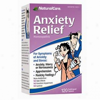 Naturalcare Anxiety Relief, Homeopathic Sublingual Tablets
