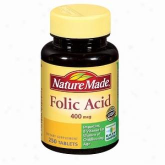 Nature Made Folic Acid, 400mcg, Tablets