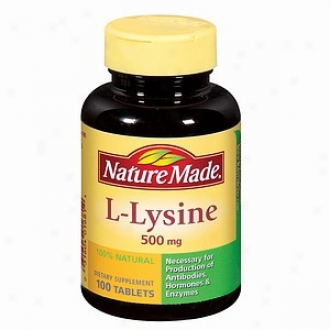 Nature Made L-lysine, 500mg, Tablets